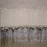 Danae Mattes' works are heavily textured.