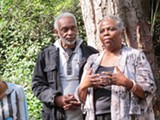 COURTESY OF MIRA MANICKAM - Dedan Gills and Belvie Rooks of Growing a Global Heart lead a Green Guard workshop.