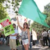 Demonstrators protested Obama administration marijuana policy earlier this year in Oakland.