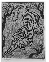 "Detail from Paul Ranson's ""Tigre dans le jungle."""