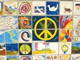 SUSAN KUCHINSKAS - Detail from the Berkeley Peace Wall.