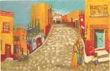 "Detail of Jill McLennan's ""San Miguel de Allende."""