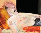 "Detail of Julia Shirar's ""Asleep."""