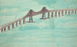 "Detail of Lance Rivers' ""Richmond-San Rafael Bridge."""