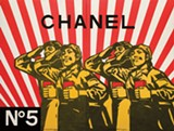 "Detail of Wang Guangyi's ""Chanel No.5."""