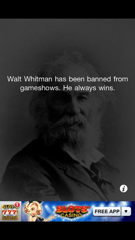 Download the mobile app Walt Whitman is Bad Ass.