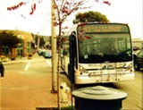 BEN HARBOR. - Drivers can't pull all the way forward at this Solano Avenue bus stop.