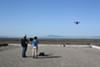 Eco drones took flight over the bay.