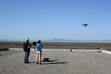 JULIAN MARK - Eco drones took flight over the bay.