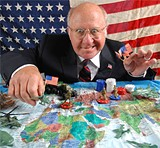 Ed Holmes as Dick Cheney.