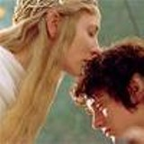 PIERRE VINET - Elves in love: Cate Blanchett, as Galadriel, speaks in tongues to Elijah Wood's hobbit, Frodo Baggins.
