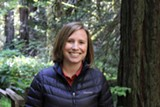 KATHLEEN RICHARDS - Emily Burns noted that redwood forests play a key role in combating climate change.
