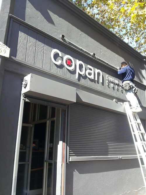 Exterior of Copan, a few days before opening.