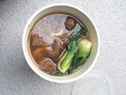 Beef noodle soup on the go. - LUKE TSAI