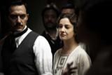 Filippo Timi as Benito Mussolini and Giovanna Mezzogiorno as the Italian dictator's one-time lover Ida in Vincere.