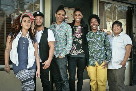 Fitz (third from right) and her Oakland friends.