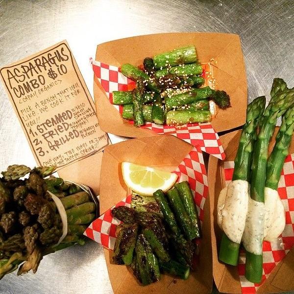 Asparagus three ways (via Facebook).