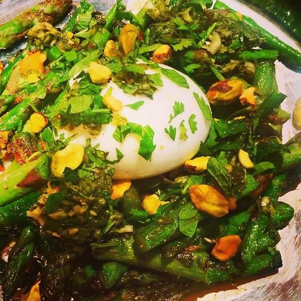 "Chef Preeti Mistry's ""Asparagus Nest"" (via Facebook)."