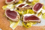 CHRIS DUFFEY - Flavors really shine in the seared tuna sashimi.