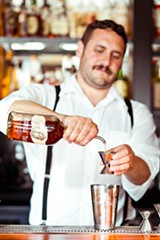 STEPHEN LOEWINSOHN - Flora's Christ Aivaliotis mixes a Trailer Smash with bourbon.