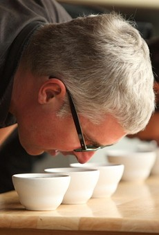 Freeman and the art of coffee cupping.