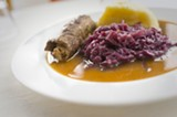 CHRIS DUFFEY - Gaumenkitzel serves authentic dishes such as beef roulade.