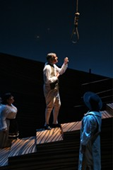 TERRY SULLIVAN - Geoffrey Colton as Pangloss, about to be joyfully hanged.