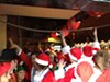Getting inside an actual bar during SantaCon wasn't easy.