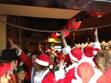 KATHLEEN RICHARDS - Getting inside an actual bar during SantaCon wasn't easy.