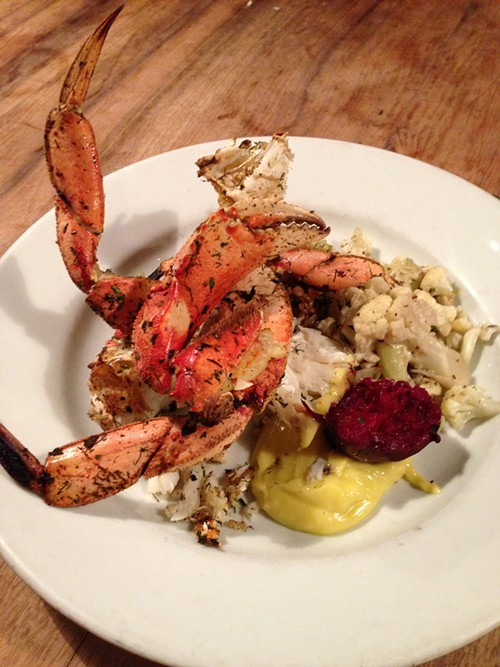 Grilled Dungeness crab at Camino