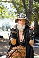 STEPHEN LOEWINSOHN - Hate Man has been a longtime fixture in People's Park.