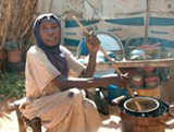 DARFUR STOVES PROJECT - Hawa Abakar says that the Berkeley-Darfur stove saves her valuable time.