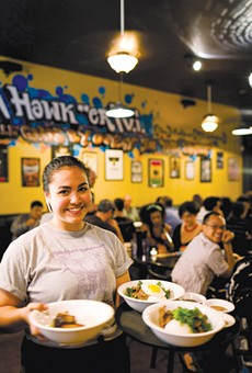 Hawker Fare servers are eager to please.