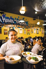 STEPHEN LOEWINSOHN - Hawker Fare servers are eager to please.