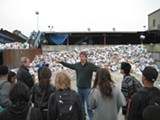 NATE SELTENRICH - High school kids learn about recycling.