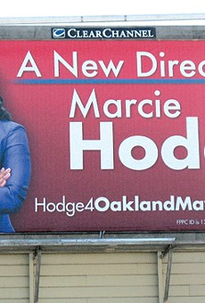 Hodge came in fifth in the 2010 Oakland mayor's race.