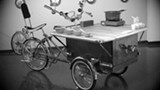 CAJUN FOOD SERVED LA (BIKE) CART.