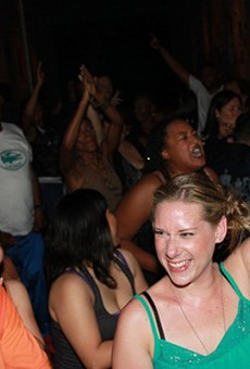House music fans at Evolve.
