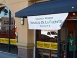 ROBERT GAMMON - Ignacio De la Fuente said he rents this office for $1,100 a month.