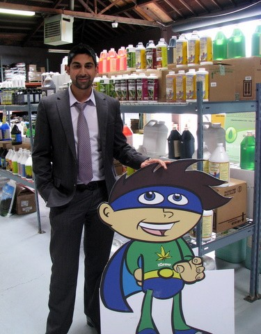 iGrow owner Dhar Mann and mascot