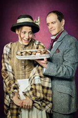 KEVIN BERNE - Irene Lucio as Eliza Doolittle and Anthony Fusco as Professor Henry Higgins in Pygmalion.