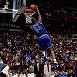 "GETTY IMAGES - Isaiah ""J.R."" Rider stunned the crowd with his dunking prowess at the 1994 NBA All-Star fest."