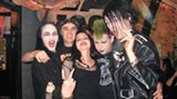 James Leon (aka Death Boy, second from left) and the fans at Death Rock Dive Bar.