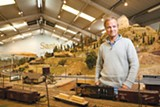 STEPHEN LOEWINSOHN - Jeff Rowe is an O Scale Trainmaster at the Golden State Model Railroad Museum.
