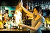Jessica Maria's Hot Totsy begins with flaming rum.