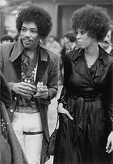Jimi Hendrix and Devon Wilson, 1970.
