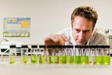 STEPHEN LOEWINSOHN - John Oram, director and principal scientist at CW Labs, inspects marijuana samples.