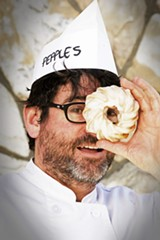 "SONYA REVELL - Josh Levine of Pepple's Donuts makes what he calls ""fancy junk food."""