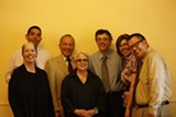 Judge Baranco (third from left) and Public Defender Diane Bellas (center) led the homeless court team.