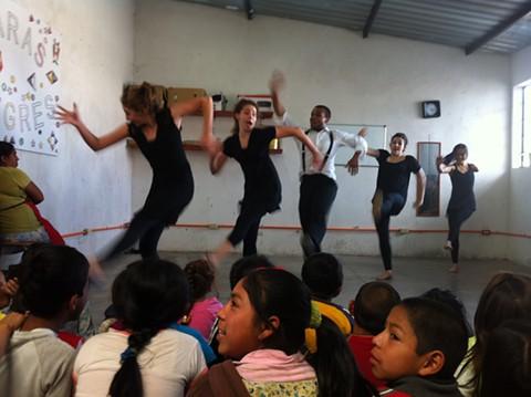 Juntos performing at Caras Alegres in Xela, Guatemala in 2013.